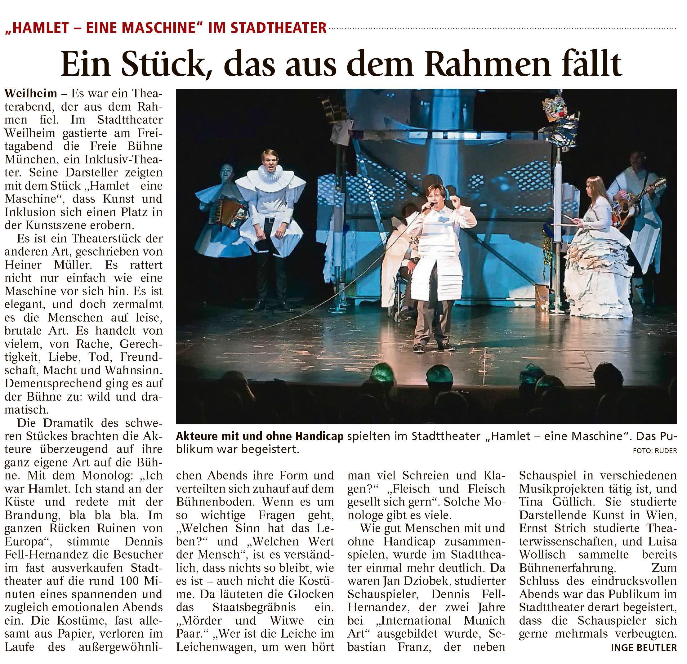 Kritik Weilheimer Tagblatt
